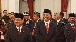 Momen Bincang-Bincang Prabowo dan Luhut Jelang Pelantikan Menteri Jokowi
