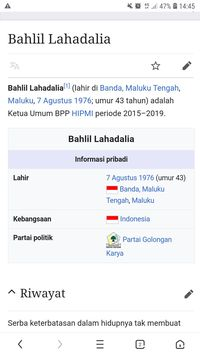 Disebut Kader Golkar di Wikipedia, Bahlil: 10 Tahun Lalu