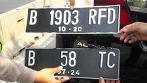 Terciduk! Alphard Pakai Pelat Nomor Palsu, Ada yang Berkode RF