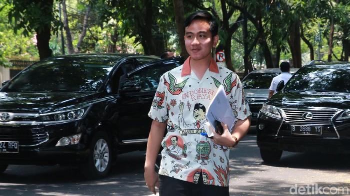 Gibran menyambangi kediaman Ketua Umum PDIP Megawati (Foto: Ari Saputra)