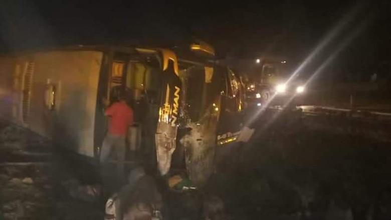 Kecelakaan bus Foto: istimewa