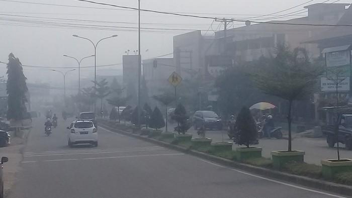 Foto: Kabut asap di Jambi (Ferdi/detikcom)