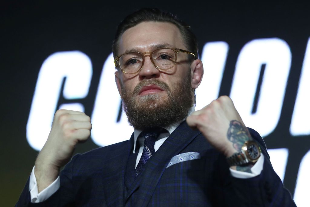 Mixed martial arts (MMA) fighter Conor McGregor gestures during a news conference in Moscow, Russia, October 24, 2019.  REUTERS/Evgenia Novozhenina