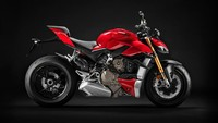 Naked sport baru Ducati mengusung nama Streetfighter V4. Motor ini adalah pengembangan dari Panigale V4. Dari segi tampilan, Streetfighter V4 memiliki desain yang agresif./Foto: Ducati