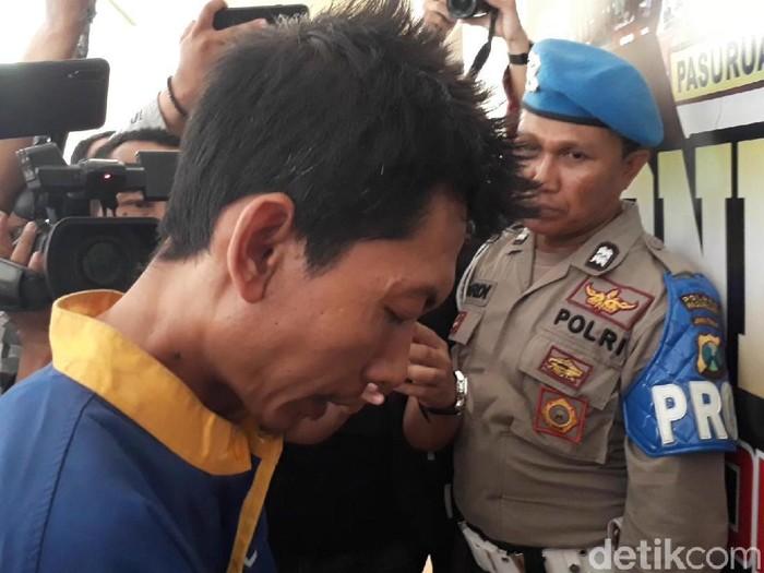 Pembunuh driver taksi online ditangkap (Foto: Muhajir Arifin)