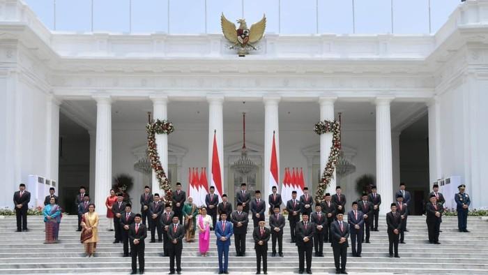 Menteri-menteri Kabinet Indonesia Maju. Foto: BPMI Setpres
