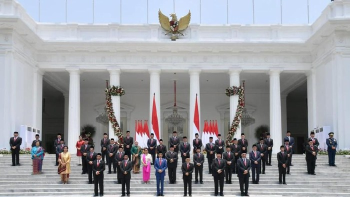 Foto: Menteri-menteri Kabinet Indonesia Maju (BPMI Setpres)