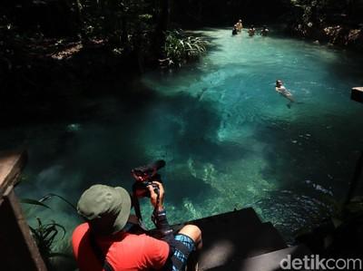 Wisatawan Mulai Datangi Destinasi Kali Biru di Raja Ampat