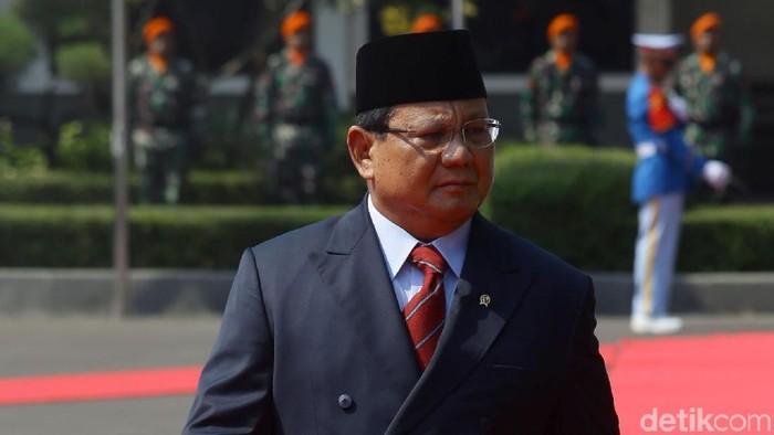 Kementerian Pertahanan melakukan serah-terima jabatan (sertijab) Menteri Pertahanan dari Ryamizard Ryacudu ke Prabowo Subianto.