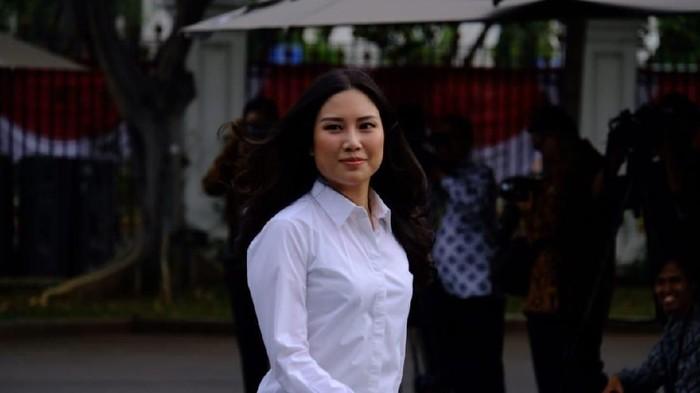 Angela Tanoesudibjo merapat ke Istana Kepresidenan, Jakarta Pusat. Foto: Andhika/detikcom