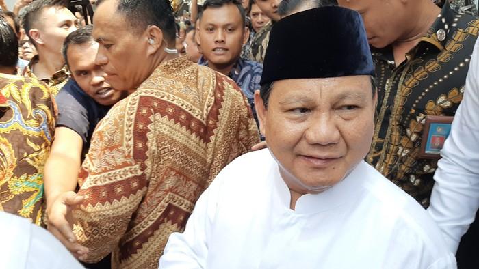 Menhan Prabowo Subianto (Lisye Sri Rahayu/detikcom)
