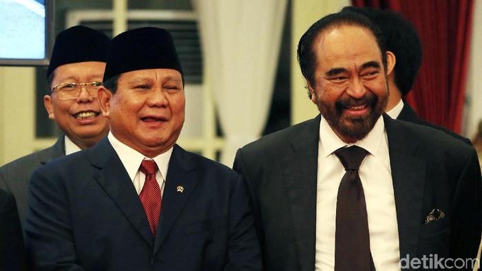 Prabowo akrab dengan Surya Paloh. (Rengga Sancaya/detikcom)