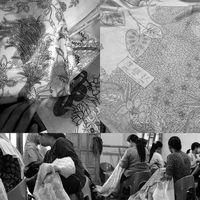 Sketching gambar desain dibuat oleh Wike (Creative Director), Chen Wen Chiu adalah nama Tionhoa dari Wike yang ada di setiap Batik Obate/