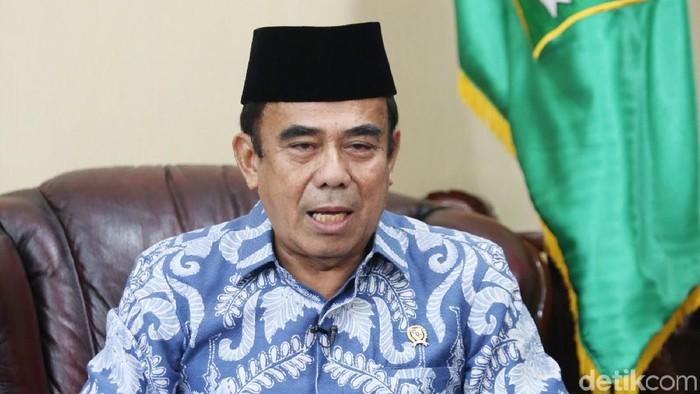 Menteri Agama Fachrul Razi saat Blak-balakn bersama detikcom.