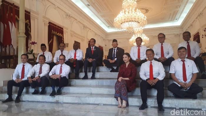 Foto: Jokowi umumkan wakil menteri (Andhika Prasetia/detikcom)