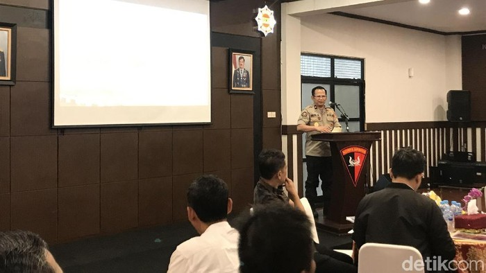 Karo Multimedia Divisi Humas Mabes Polri Brigjen Budi Setiawan. (Rolando/detikcom)