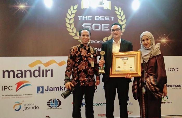 PT Brantas Abipraya (Persero), sebuah perusahaan BUMN yang bergerak di bidang konstruksi kembali meraih Golden Trophy Infobank tahun ini atas kinerja keuangan tahun 2018 dengan predikat sangat bagus yang disabet selama lima tahun berturut-turut. Istimewa/Dok. PT Brantas Abipraya.