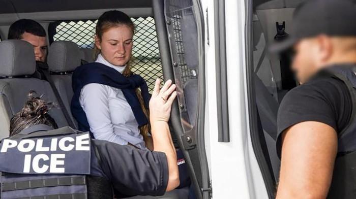 Foto: Maria Butina saat dibebaskan dari penjara AS (U.S. Immigration and Customs Enforcement/Handout via REUTERS)