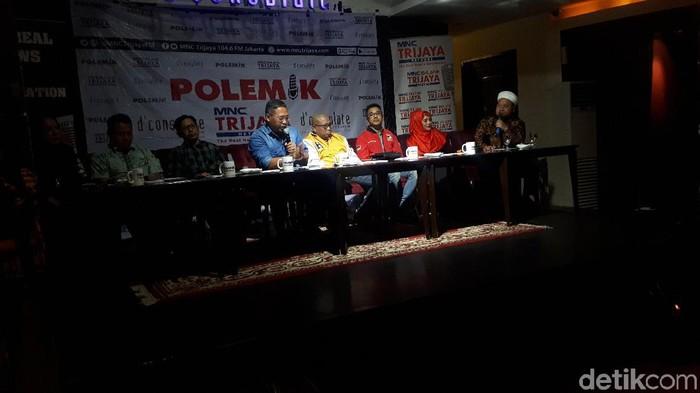 Diskusi Polemik tema Kabinet Bikin Kaget. (Faiq/detikcom)