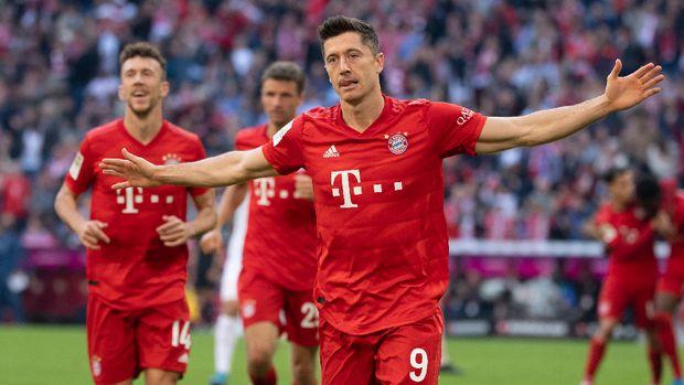 Robert Lewandowski jadi pesaing utama Lionel Messi sebagai bomber tersubur di liga Eropa.
