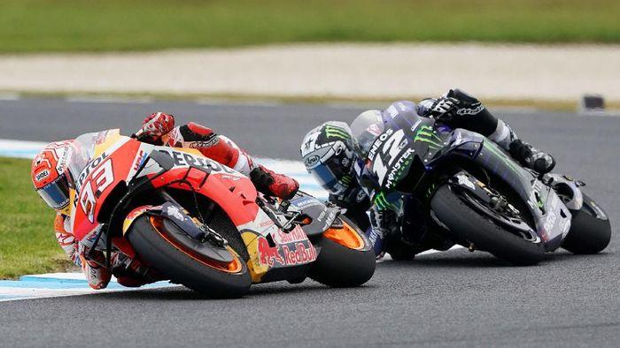 Pebalap Repsol Honda, Marc Marquez edikit berjudi untuk memenangi MotoGP Australia. (Foto: AAP Image/Michael Dodge /via Reuters)