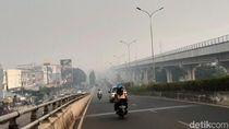 Potret Jembatan Ampera Hilang Ditelan Kabut Asap
