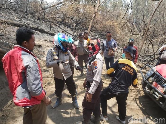 Jalur pendakian Ijen yang terbakar (Foto: Istimewa)