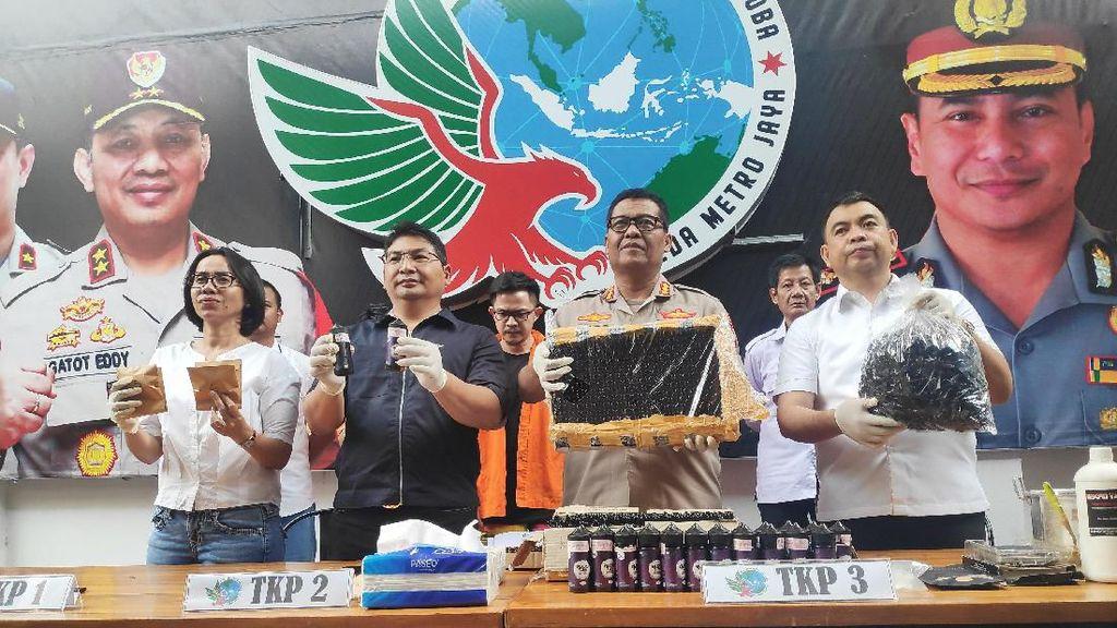 3 Pengedar Liquid Vape Gorilla Ditangkap, 253 Botol Disita