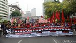 Suasana Long March Massa Aksi di Thamrin
