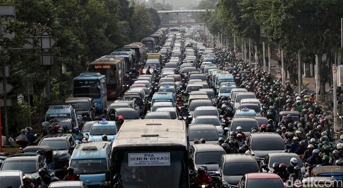 Ilustrasi kemacetan di Jakarta (Foto: Pradita Utama-detikcom)