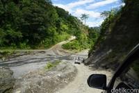 Pengaspalan akses jalan antara Pegunungan Arfak dan Manokwari tersebut, menurut Jokowi, akan memudahkan transportasi orang dan distribusi barang, terutama produk-produk pertanian (Ahmad Masaul Khoiri/detikcom)