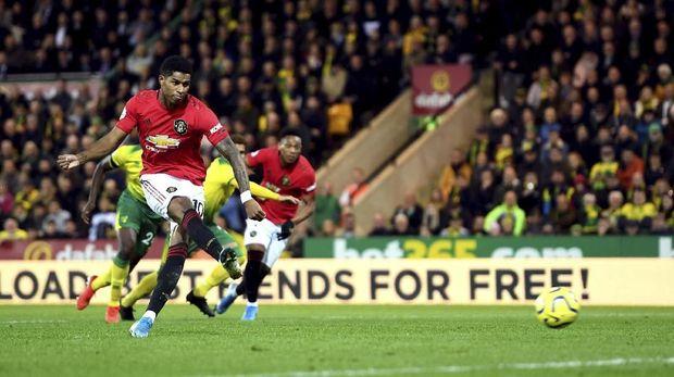 Marcus Rashford cetak satu gol dan sekali gagal penalti lawan Norwich.
