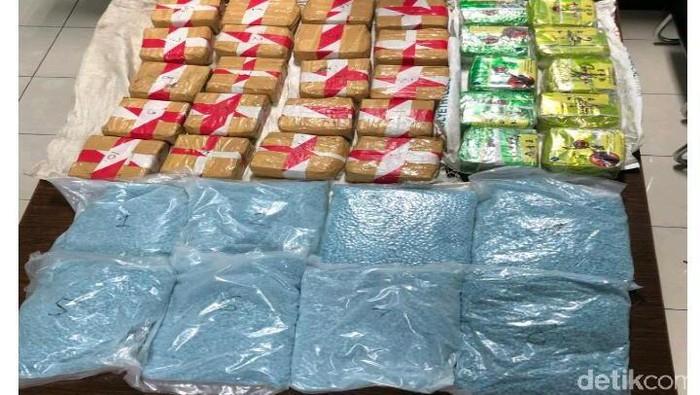Barang bukti narkoba yang disita petugas dari penangkapan Lukman. (Foto: Istimewa)