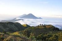 Gunung Prau sangatlah cocok untuk pendaki pemula dan para penikmat senja juga sunrise lho. (Rio Candra Prasetyo/dtraveler)