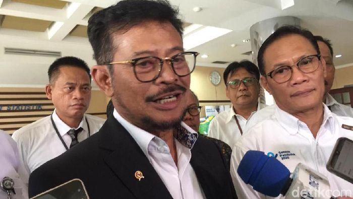 Foto: Menteri Pertanian Syahrul Limpo di BPS, (Vadhia Lidyana/detikFinance)