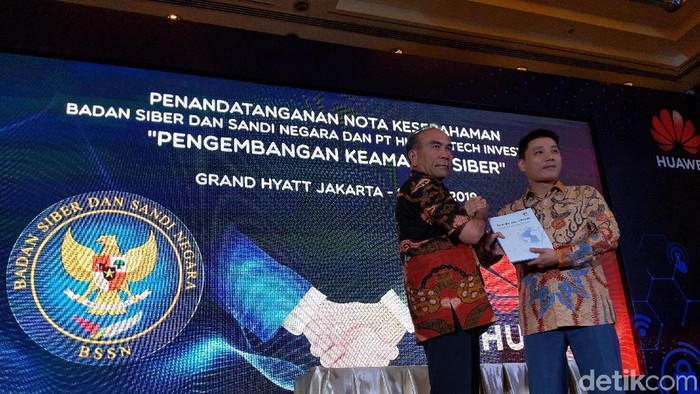 Huawei & BSSN. (Foto: detikINET/Agus Tri Haryanto)