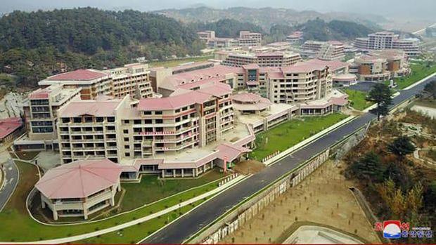 Resmi! Kim Jong Un Buka Kota Spa di Korea Utara