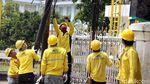 Kabel Semrawut di Salemba Mulai Ditertibkan