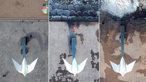 Abrasi Monumen Merpati Perdamaian Makin Parah
