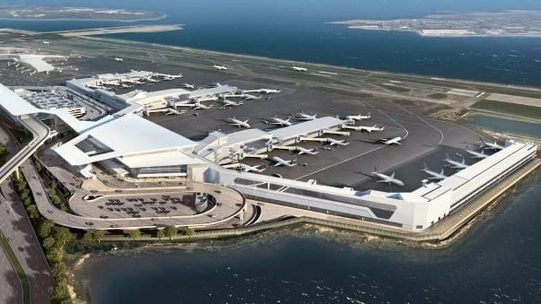Terminal baru di Bandara LaGuardia (Foto: CNN)