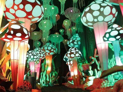 Fantasy Park Di Summarecon Mall Bekasi Instalasi Cahaya Yang Instagrammable