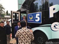 Ditemani Menkominfo, Surya Paloh Sambangi DPP PKS