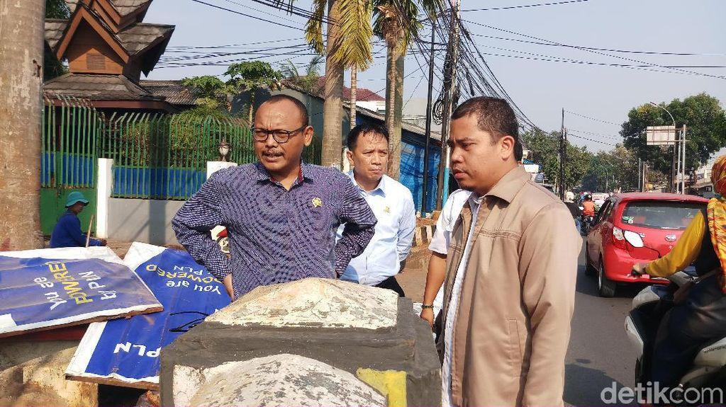 Anggota DPRD DKI F-Gerindra Sidak Pembangunan Jembatan Caglak Cibubur