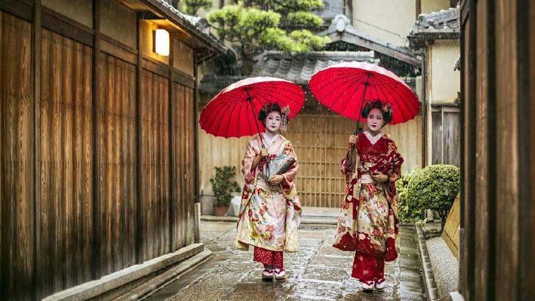 Ilustrasi geisha (iStock)