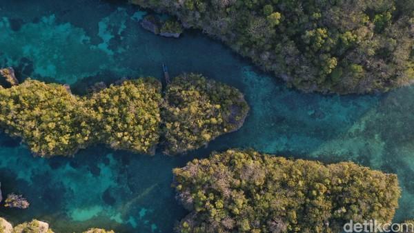 Selain berenang, wisatawan juga bisa melihat pemandangan dengan cara memanjat tebing karang. Di sanalah pemandangan indah Pulau Bair terlihat dengan jelas. Tetapi, harus sangat berhati-hati ketika memanjat dan turun dari tebing karang itu karena karangnya cukup tajam (Foto: Didik Dwi Haryanto/detikcom)