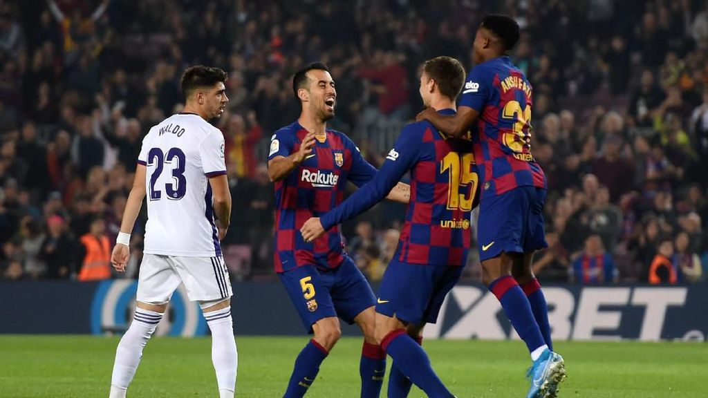 Video Barca Acak-acak Real Valladolid dengan Skor 5-1