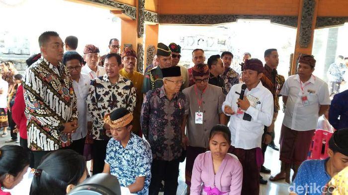 Foto: Maruf Amin berbincang soal stunting di Bali (Danang Sugianto/detikcom)