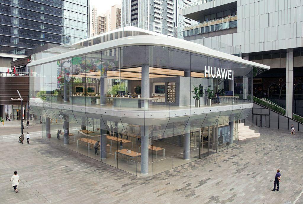 Toko dengan desain menarik ini terletak di kota Shenzhen, China. Kantor pusat Huawei juga berada di kota industri tersebut. Foto: Reuters
