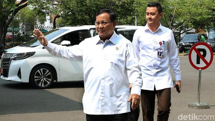 Menhan Prabowo Subianto (Rengga Sancaya/detikcom)