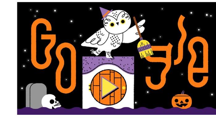 Google Halloween 2019. Foto: Google Doodle